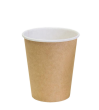 """Бумажный стакан для горячих напитков 250мл (1-сл) """"крафт"""""""