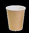 """Бумажный стакан для горячих напитков 350мл (1-сл) """"крафт"""""""