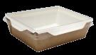 Картонный контейнер с пластиковой крышкой 500мл