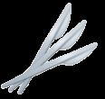 "Нож пластиковый 165мм ""компакт"""