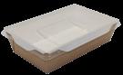Картонный контейнер с пластиковой крышкой 800мл