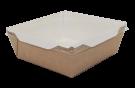 Картонный контейнер с пластиковой крышкой 900мл