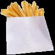 Пакет бумажный для картофеля-фри 80гр 100*115