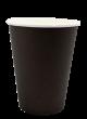 """Бумажный стакан для горячих напитков 350мл (1-сл) """"черный"""""""