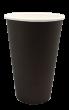"""Бумажный стакан для горячих напитков 450мл (1-сл) """"черный"""""""
