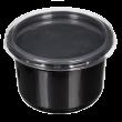 Пластиковый контейнер черный с крышкой СпК-115 500мл  (СВЧ+)
