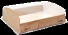 Картонная коробка с пластиковой крышкой 1000мл (OpBox)