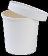 Супница с крышкой 340мл (белая Eco Soup 12W)