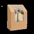 Коробка для роллов с окном (Eco Roll) 130*90*50мм