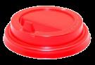 """Крышка пластиковая """"Красная"""" с клапаном для стаканов 350/450мл"""