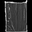 Трубочки прямые черные 240мм*8 мм (широкие)