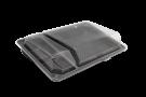 Пластиковый контейнер для суши  3-секц. с крышкой 195мм/106мм/40мм