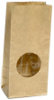Пакет бумажный c окном 200*100*60