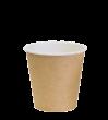 """Бумажный стакан для горячих напитков 100мл (1-сл) """"крафт"""""""