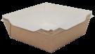 Картонный контейнер с пластиковой крышкой 1000мл