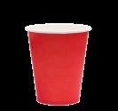 """Бумажный стакан для горячих напитков 250мл (1-сл) """"красный"""""""