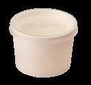 Картонная супница с пластик. крышкой 240мл (Белая Eco Soup 8W E)