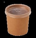Картонная супница с пластик. крышкой 240мл (Крафт Eco Soup 8С E)