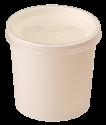 Картонная супница с  пластик. крышкой 340мл (белая Eco Soup 12W E)