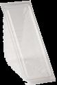 Пластиковая коробка для сэндвича (70мм бол.) СВЧ+