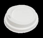 """Крышка пластиковая """"белая"""" для стаканов 175-200мл (71мм)"""