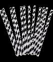 Трубочки бумажные 200mm*6mm ЧЕРНО-БЕЛЫЕ