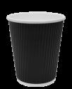 """Гофрированный бумажный стакан 250 мл """"Черный"""""""