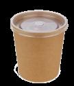 "Картонная супница с  пластик. крышкой 340мл ""крафт"" (Eco Soup 12C E)"