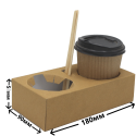 Переноска (коробка) 2-ух мест.для стаканов 250/350/450мл