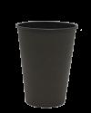 """Бумажный стакан для горячих напитков 350мл (1-сл) """"черный Total"""""""