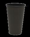 """Бумажный стакан для горячих напитков 450мл (1-сл) """"черный Total"""""""