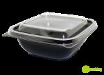 """Пластиковый контейнер c крышкой СпК-1212 375мл (комплект) """"Кубик"""""""
