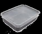 Пластиковый контейнер черный СтП 179*132 500мл с крышкой