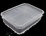 Пластиковый контейнер черный 179*132 750мл с крышкой