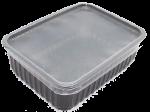 Пластиковый контейнер черный 179*132 1000мл с крышкой