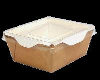 Бумажный контейнер с крышкой 350мл (OpSalad 350)