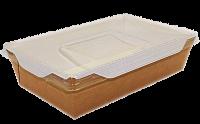 Картонный контейнер с пластиковой крышкой 800мл (OpSalad800)