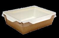Картонный контейнер с пластиковой крышкой 500мл (OpSalad 500)