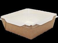 Картонный контейнер с пластиковой крышкой 900мл (OpSalad 900)