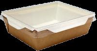 Картонный контейнер с пластиковой крышкой 1500мл (OpSalad 1500)