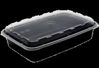 Пластиковый контейнер 830мл с крышкой PP (комплект)