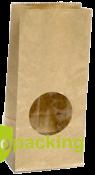 Пакет бумажный c окном 250*120*80