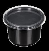 Пластиковый контейнер черный с крышкой СпК-115 350мл  (СВЧ+)