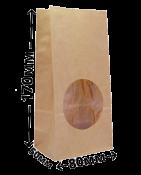 Пакет бумажный c окном 170*80*50