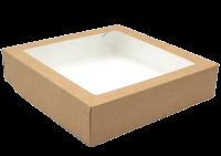 Картонный контейнер с окном 200/200/40 1500мл СКЛЕЕННЫЙ (Tabox 1500 Pro)