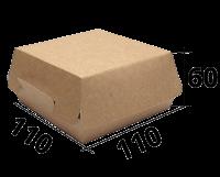 "Коробка для бургера 110/110/60 ""Крафт"" (EcoBurger М)"