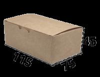 "Коробочка для еды 115/75/45  ""Крафт"" (Fast Food Box S)"