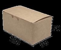 """Коробочка для еды 150/90/70 """"Крафт"""" (Fast Food Box L)"""