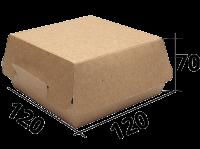 "Коробка для бургера 120/120/70  ""крафт"" (EcoBurger L)"